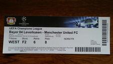 Ticket BAYER LEVERKUSEN - MANCHESTER UNITED Champions L. 2013/14 Germany England