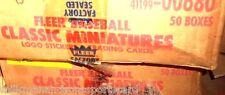 1986 FLEER 50 SET CASE classic miniatures 6000 baseball cards 900 stickers@ $140