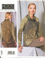 VOGUE SEWING PATTERN 1521 MISSES SZ 6-14 LOOSE-FITTING COWL NECK PULLOVER TOP