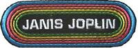 JANIS JOPLIN AUFBÜGLER EMBROIDERY PATCH # 2 LOGO PEARL - 10x4cm