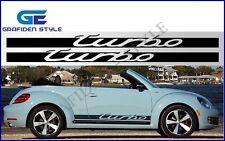 1 Paar VW BEETLE TURBO - Auto Seiten Aufkleber - Sticker - Decal - Car !<>!<>!