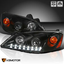 2005-2010 Pontiac G6 LED Projector Headlights Head Lamps Black Left+Right