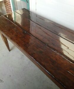 Handmade Dining Table, Burnished Wood,Resin top, tappered legs, custom ordering