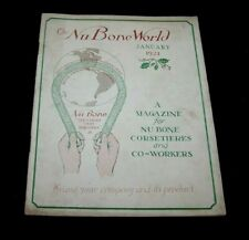JAN 1921 NU BONE WORLD-MAG FOR CORSETIERES-CORSET-LINGERIE-HOME SELLERS