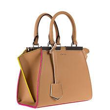 """Fendi Mini """"3Jours""""  Leather Women's Beige Bag"""