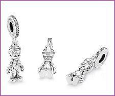 New Authentic Genuine Pandora Silver Disney Pinocchio Dangle Charm S925 ALE