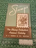The Stamp Collectors Annual Catalog 3rd 1947 H.E. Harris & Co. Booklet FREE SHIP