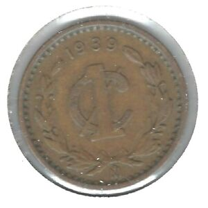 1939-M Mexico Circulated One Centavo Coin