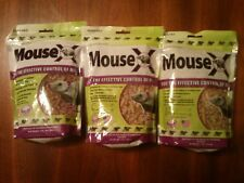 (3) 1lb Bags Mouse X Pest Control Safe NonToxic for Pet Animal Livestock People