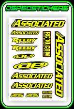 TEAM ASSOCIATED AE REEDY RC10 STICKER SHEET A5 BNIP VINTAGE RC8 B6 TC7 RC CAR XP