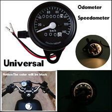 Black Motorcycle Dual Odometer Speedometer Gauge Meter Backlight New Universal