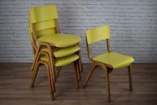 Vintage Industrial Yellow 'Tecta' Stacking School Cafe Bar Kitchen Chairs