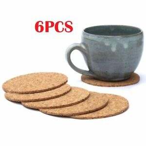 Table Mat Insulation Kitchen Wooden Placemat Bowl Pad Cork Coaster Cup Mat