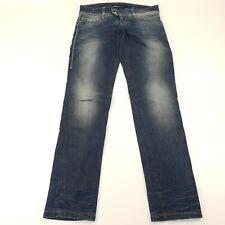 Miss sixty Pixie Womens Jeans W32 L33 Blue Slim Fit Skinny Low Rise Zip Denim