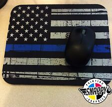 Thin Blue Line Mouse Pad - Police Mouse Pad