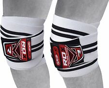 Authentic RDX Knee Wraps Weight Lifting Bandage Straps Guard Pads  Power Brace U