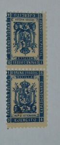 SPAIN, NORTH AFRICA,1894 MELILLA,  LOCAL 2 MINT STAMPS,  ARMY EXPEDITION EB02