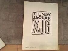 JAGUAR XJ6 TEST DRIVE RISTAMPA Dalla Autocar OPUSCOLO 1968