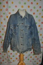 Vintage Levis Strauss Men'S large Flannel lined Blue Denim Jacket farm trucker