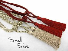 Pair of Small curtain tassel tiebacks Red Gold IDEAL FOR SMALL WINDOWS Tie backs