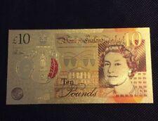 RESTRIKE 24k Gold Plated Jane Austen £10 Note New 10 Pound Austin Not Aa01 Error