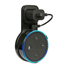 Outlet Wall Mount Hanger Holder Stand Bracket For Amazon Echo Dot 2 2nd Black