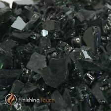 Finishing Touch Products 1/2 Onyx Black Metallic Fireglass - 8 Lbs. Container