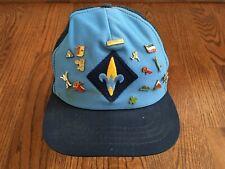 Vintage WEBELOS Uniform Hat Activity Pins Arrow Light CUB SCOUT Cap BSA Scouting