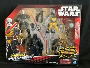 Star Wars Hero Mashers Capture the Rebels 4 Figure Set Darth Vader Hasbro NIB