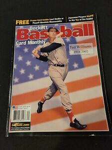 Beckett Baseball Card Monthly Issue 210 Ted Williams Red Sox September 2002