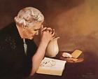 Print -  Gratitude by Jack Garren (Old woman saying grace)