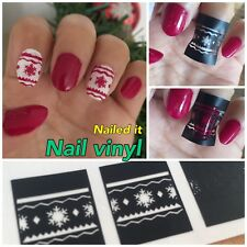 snowflakes Nail Art Stencils Vinyl Decal Stickers Manicure French Nail