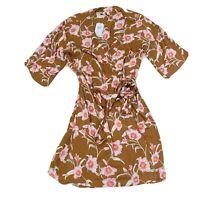 Roxy BNWT Women's Size L Floral Wrap Dress RRP $99.99