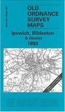OLD ORDNANCE SURVEY MAP IPSWICH, BILDESTON, HADLEIGH, NEEDHAM MARKET 1893