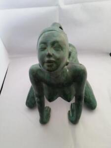 Statue of Lady in Marjaryasana Bitilasana Cat Cow Posture Yoga Kama Sutra