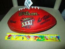 1997 WILSON OFFICIAL SUPER BOWL XXXI FOOTBALL W/ SIGNATURES -PACKERS VS PATRIOTS