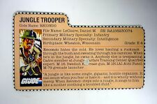 G.I. JOE RECONDO FILE CARD Vintage Action Figure GREAT SHAPE 1984