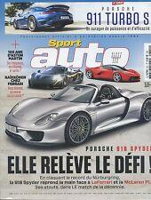 SPORT AUTO n°621 10/2013 PORSCHE 918 SPYDER 911 TURBO S