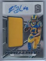 Darrell Henderson Rookie Patch Auto RC 2019 Spectra Radiant Signatures /199 Rams