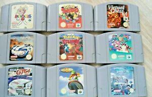 9 Nintendo 64 Spiele N64 - Top Gear , Turok , Rakugakids , GT64 ,Pokemon , Mario