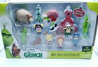 Dr Seuss The Grinch Who-Ville Collection Set of 10 Figures * Brand New*