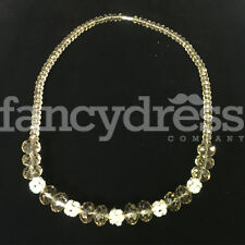Ladies Champagne Silver Bead Beaded Necklace Costume Jewellery NEW Gift