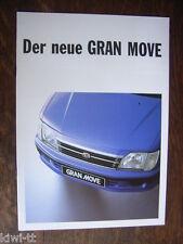 Daihatsu Gran Move Prospekt / Brochure / Depliant, CH, 3.2000