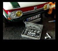 Knarre Ratsche Kasten Metall Bausatz Diorama Werkstatt Garage Deko Set 1/18