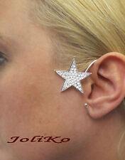 JoliKo Ohrklemme Ear cuff Earrings Clip Elben Fee Stern Nacht Lonely Star LINKS