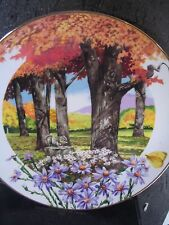 1981 Wildflowers of the South FROST ASTER Squirrel Butterfly Ltd Ed Plate