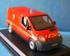 RENAULT TRAFIC MINI BUS POMPIER FRANCE 18 112 OLIEX RED