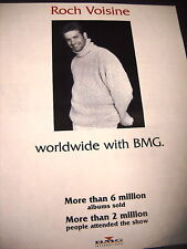 Roch Voisine worldwide with Bmg 1995 Promo Poster Ad