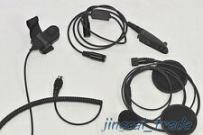 Casco de motocicleta Auricular Para Radio Ham para Motorola Radio GP328 GP340