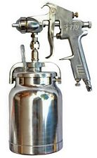 Spray Gun & 1 Litre Pot S-770 2mm & 1.4mm Needle Spray Gun Quality Air Tool